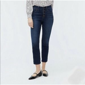 J. Crew High-Rise Vintage Straight Button Fly 25